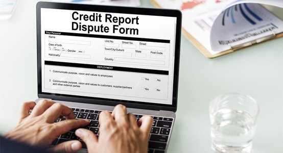 Photo of an Online Credit Report Dispute Form