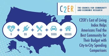 C2ER's Cost of Living Index Helps Americans Find the Best Community for Their Budget with City-to-City Spending Comparisons