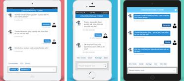 Screenshot of Conversational Forms mobile optimization