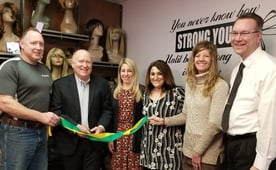 Photo of wig room ribbon cutting ceremony