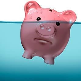 Piggy Bank Under Water Graphic