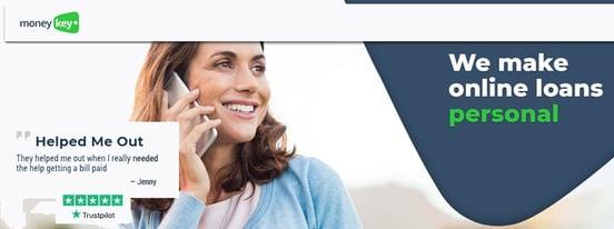 Screenshot of MoneyKey's homepage