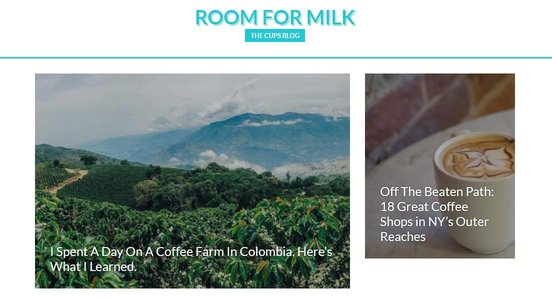 Screenshot of the CUPS Room for Milk blog