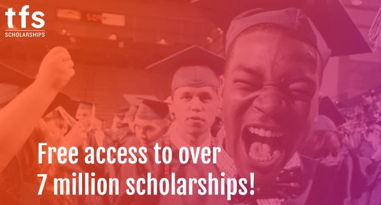 Screenshot of TFS Scholarships banner
