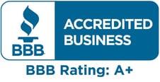 Screenshot of Better Business Bureau A+ rating