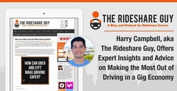 Harry Campbell, aka The Rideshare Guy, Offers Expert Insights and Advice on Making the Most Out of Driving in a Gig Economy