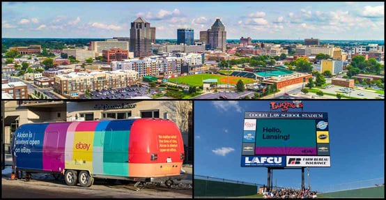 Greensboro, Akron, Lansing