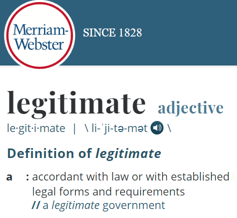 Definition of Legitimate
