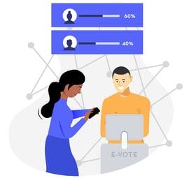 Blockchain Voting Graphic