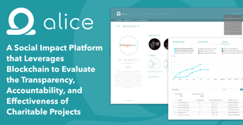 Alice: A Social Impact Platform that Leverages Blockchain to Evaluate the Transparency, Accountability, and Effectiveness of Charitable Projects