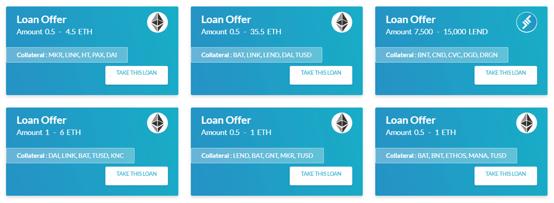 ETHLend Marketplace Screenshot