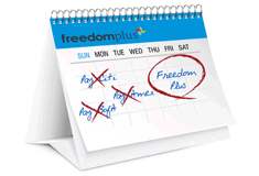 FreedomPlus Calendar Graphic