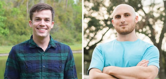 Photos of FreeeUp Co-Founders Connor Gillivan and Nathan Hirsch