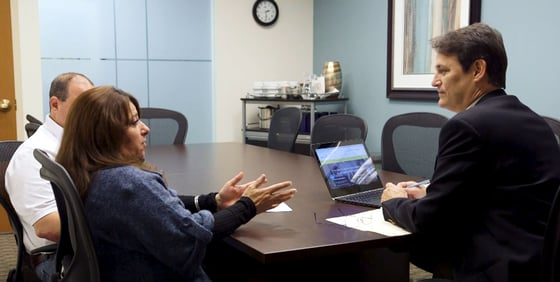 Photo of Jim Droske with Illinois Credit Services clients