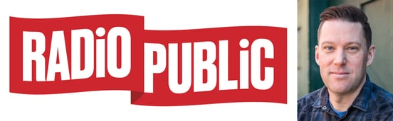 RadioPublic logo and photo of Matt MacDonald