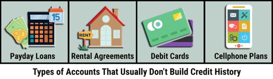 Accounts That Don't Build Credit