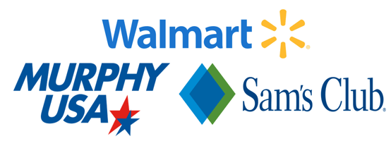 Logos of places the Walmart Credit Card is accepted
