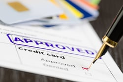 Stock Photo of a Credit Card Application Approval
