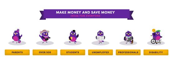 Screenshot of MoneyMagpie categories