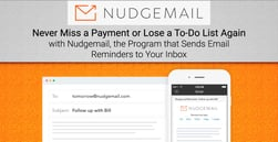 Never Miss a Payment or Lose a To-Do List Again with Nudgemail, the Program that Sends Email Reminders to Your Inbox