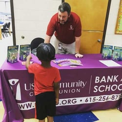 Young Student at Financial Literacy Event