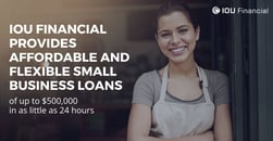 IOU Financial Provides Affordable and Flexible Small Business Loans of up to $500,000 in as Little as 24 Hours