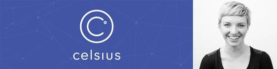 Celsius Network logo and Director of Marketing Kristen Ryan