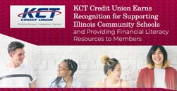 KCT Credit Union Earns Recognition for Supporting Illinois Community Schools and Providing Financial Literacy Resources to Members