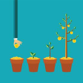 Growing Money Graphic