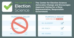 The Center for Election Science Advocates Change and Encourages Approval Voting for a More Representative, Responsible Government