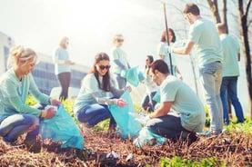 Volunteers Cleaning Up Trash