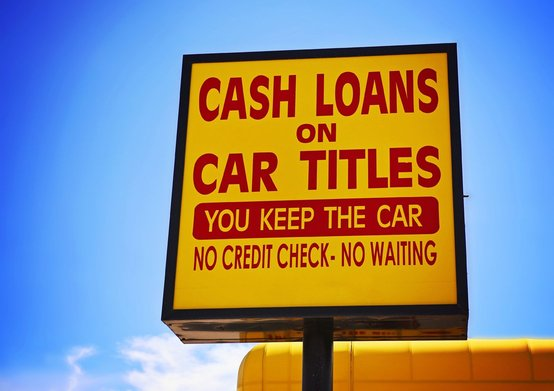 Stock Photo of a Title Loan Sign