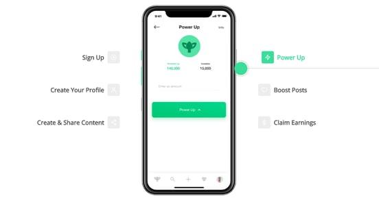 Screenshot of Karma app features