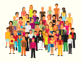 Group of Diverse People Illustration