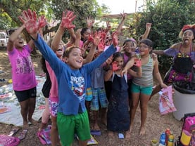 Picture of Children After Finger Painting