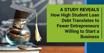 A Study Reveals How High Student Loan Debt Translates to Fewer Entrepreneurs Willing to Start a Business