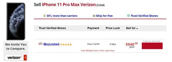 Screenshot of selling portal on Flipsy