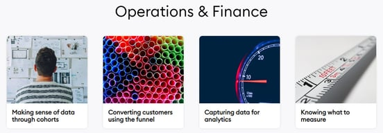 Screenshot of Digital Business Academy Operations & Finance course page