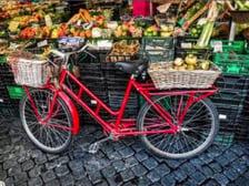 Bike and Fruit Stand Photo