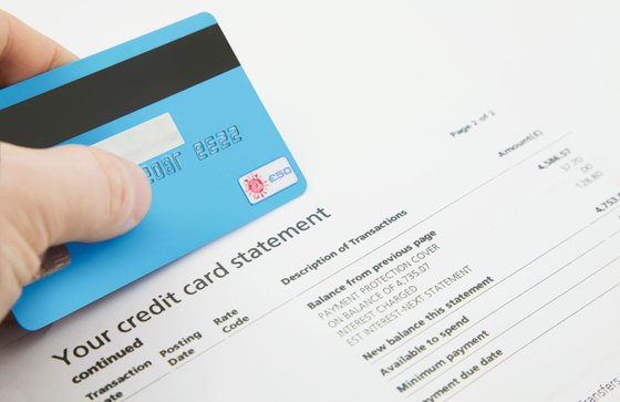 Photo of a Credit Card Statement