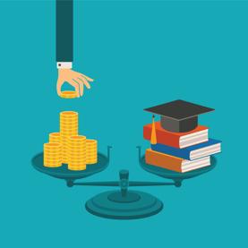 Student Loan Debt vs. Books Graphic