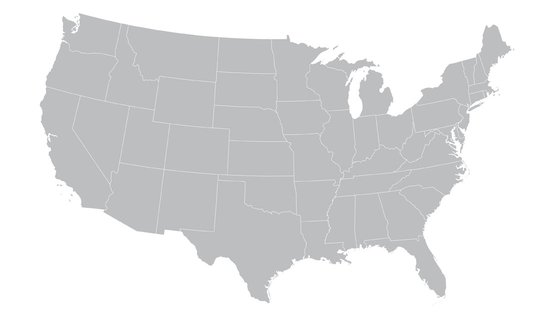Map of the U.S.