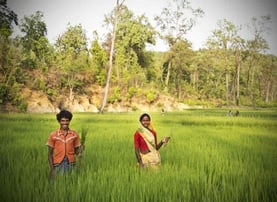 Oxfam India Photo of People in a Field