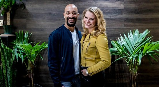 Photo of Clearbanc Co-Founders Andrew D'Souza and Michele Romanow