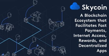 Skycoin: A Blockchain Ecosystem that Facilitates Fast Payments, Internet Access, Rewards, and Decentralized Apps