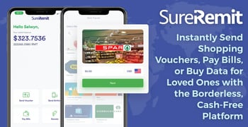 SureRemit: Instantly Send Shopping Vouchers, Pay Bills, or Buy Data for Loved Ones with the Borderless, Cash-Free Platform