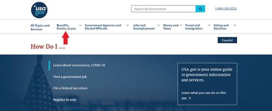USA.gov Screenshot