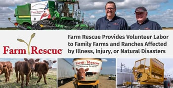 Farm Rescue Provides Volunteer Labor to Family Farms and Ranches Affected by Illness, Injury, or Natural Disasters