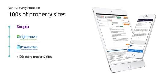 Screenshot of Doorsteps property site integration