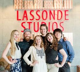 Photo of group at Lassonde Studios